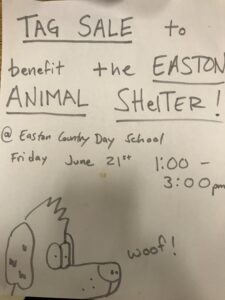 Tag Sale to benefit the Easton Animal Shelter